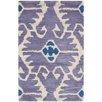 Safavieh Handmade Wyndham Lavender/ Ivory Wool Rug - 3' x 5'