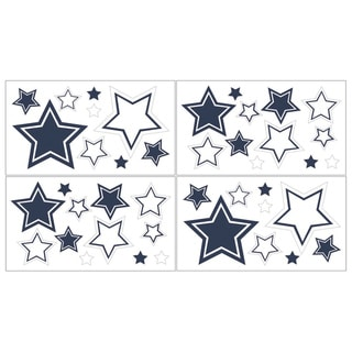 Sweet JoJo Designs White and Navy Hotel Wall Decals