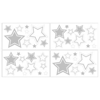 Sweet JoJo Designs White and Grey Hotel Wall Decals