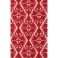 Safavieh Handmade Wyndham Red/ Ivory Wool Rug - 4' x 6'