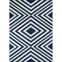 Havenside Home Rowayton Navy Indoor/ Outdoor Area Rug (8'6 x 13')