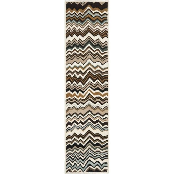 Safavieh Handmade Wyndham Brown Wool Rug (2' 3 x 11')