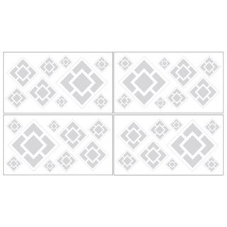 Sweet JoJo Designs Grey and White Diamond Wall Decals
