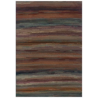 Striped Multi Area Rug (5'3 x 7'6)