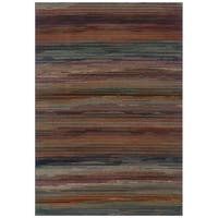 Striped Multi Area Rug - 5'3 x 7'6