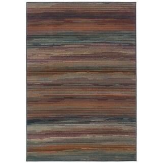 """Ariel Multi-colored Ombre Stripe Area Rug - 5'3"""" x 7'6"""""""