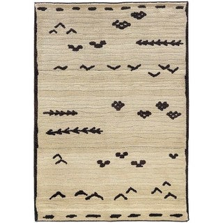 Old World Tribal Ivory/ Brown Rug (9'9 x 12'2)