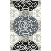 Safavieh Handmade Wyndham Grey/ Black Wool Rug - 3' x 5'