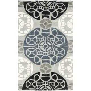 Safavieh Handmade Wyndham Grey/ Black Wool Rug (3' x 5')