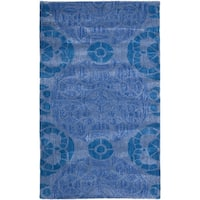 Safavieh Handmade Wyndham Blue Wool Area Rug - 3' x 5'