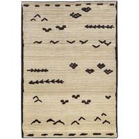Pine Canopy Chequamegon Tribal Ivory/Brown Area Rug - 7'10' x 10'10'