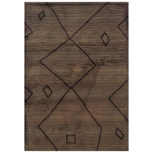 Shop Old World Tribal Brown/ Ivory Rug