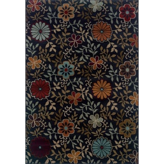 Floral Casual Blue/ Multi Rug (5'3 x 7'6)