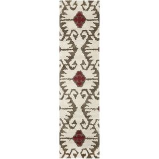 Safavieh Handmade Wyndham Ivory/ Brown Wool Rug (2'3 x 11')