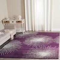 "Safavieh Handmade Soho Burst Purple/ Ivory Wool Rug - 3'6"" x 5'6"""