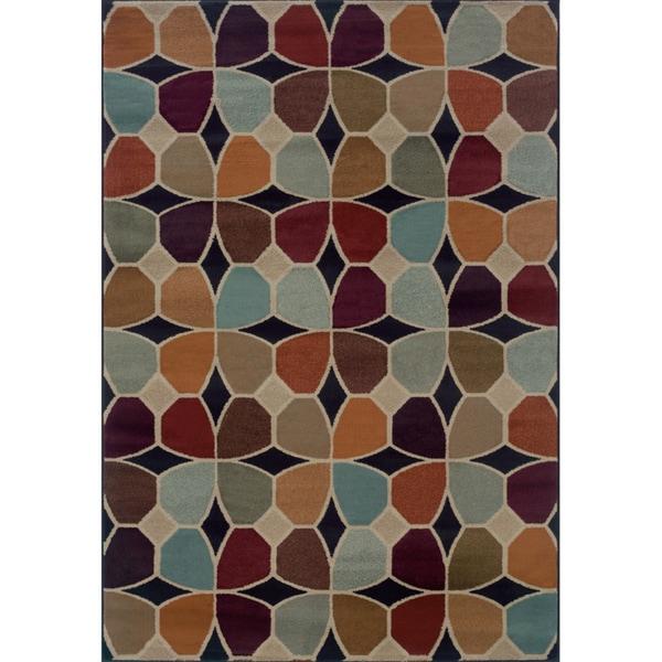 Geometric Grey/ Multi Rug (6'7 x 9'6)