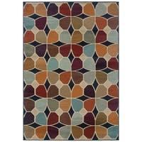 "Style Haven Grey/Multicolored Geometric Area Rug (9'10 x 12'9) - 9'10"" x 12'9"""