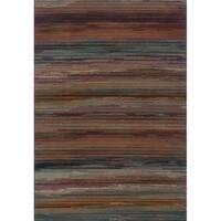 Multicolored Stripe Area Rug - 7'10 x 10'10