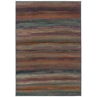 Striped Multi Area Rug (9'10 x 12'9)