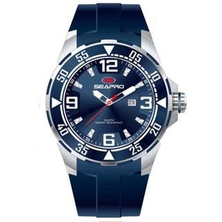 Seapro Men's 'Drive' Blue Dial Watch