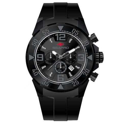 Seapro Men's 'Drive' Black/ Grey Chronograph Watch