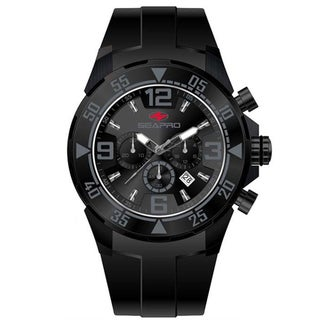 Seapro Men's 'Drive' Black/ Grey Chronograph Watch