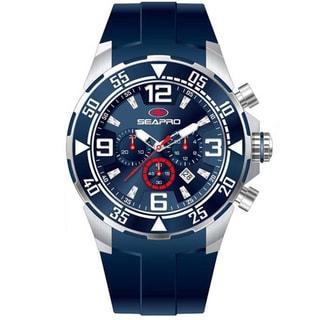 Seapro Men's 'Drive' Blue Dial Chronograph Watch
