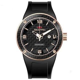 Seapro Men's Diver Rose Goldtone/ Black Watch