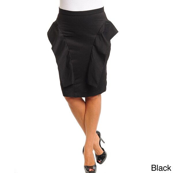 54df264a1 Shop Stanzino Women's Plus Peplum Side Knee-length Pencil Skirt ...