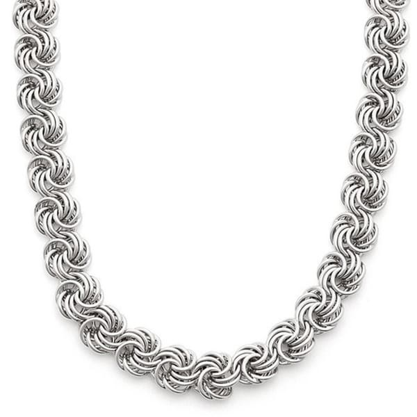 Gioelli Sterling Silver Rosetta Necklace