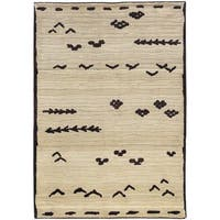 Pine Canopy Chequamegon Tribal Ivory/ Brown Area Rug - 5'3' x 7'6'