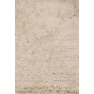 Hand-Tufted Ellis Beige Shag Rug (2'3 x 3'9)