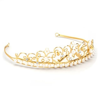 Sweetie Pie Collection Girl's Gold-Plated Beaded Tiara
