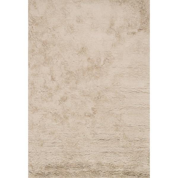 Hand-Tufted Ellis Beige Shag Rug - 7'9 x 9'9