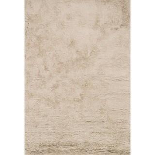 Hand-Tufted Ellis Beige Shag Rug (7'9 x 9'9)