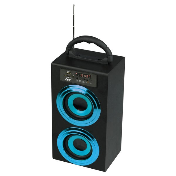 QuantumFX CS-97US Portable Multimedia Boom Box Speaker with USB/SD/AUX Inputs & FM Radio