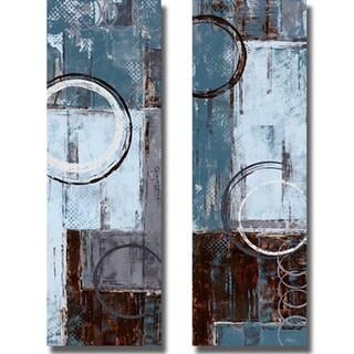 Maria Donovan 'Cool Dance I and II' 2-piece Canvas Art Set