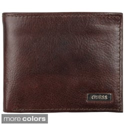 Guess Men's Genuine Leather Passcase Billfold Wallet