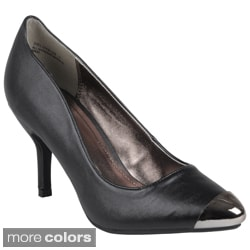Journee Collection Women's Mirrored Almond Toe Pump