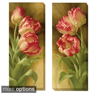 Igor Levashov 'Spring's Parrot Tulips I and II' 2-piece Canvas Art Set