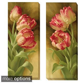 Igor Levashov 'Spring's Parrot Tulips I and II' 2-piece Canvas Art Set
