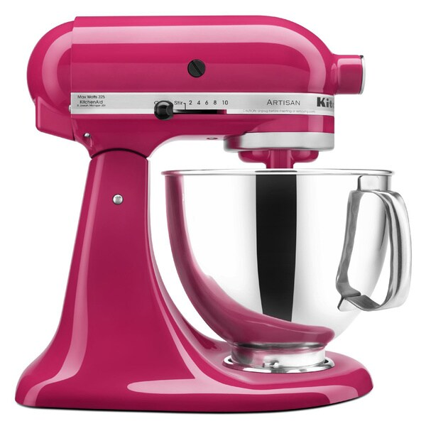 kitchenaid ksm150pscb cranberry artisan 5 quart tilt head. Black Bedroom Furniture Sets. Home Design Ideas