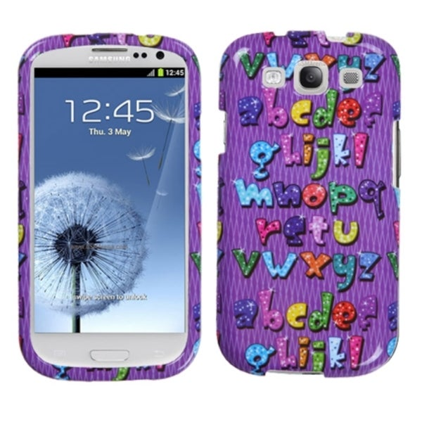 INSTEN Alphabet Phone Case Cover for Samsung Galaxy S III i747/ L710/ T999/ i535