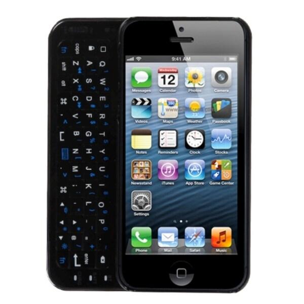 INSTEN Black Backlight Bluetooth Wireless Keyboard for Apple iPhone 5