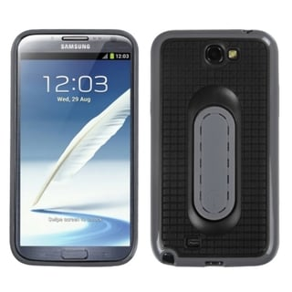 INSTEN Black Snap Tail Stand Phone Case Cover for Samsung Galaxy Note II T889/ I605