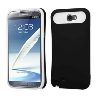 INSTEN Black/ White Wallet Phone Case Cover for Samsung Galaxy Note II/ 2 T889