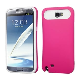 INSTEN Hot Pink/ White Wallet Phone Case Cover for Samsung Galaxy Note II/ 2 T889