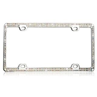 INSTEN Multi-color Crystals Metal License Plate Frame