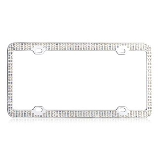 INSTEN Multicolor Triple Row Crystals License Plate Frame|https://ak1.ostkcdn.com/images/products/8076303/8076303/BasAcc-Multicolor-Triple-Row-Crystals-License-Plate-Frame-P15431027.jpg?_ostk_perf_=percv&impolicy=medium