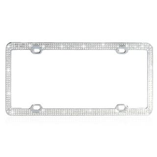 INSTEN White Crystals License Plate Frame|https://ak1.ostkcdn.com/images/products/8076357/8076357/BasAcc-White-Crystals-License-Plate-Frame-P15431076.jpg?impolicy=medium